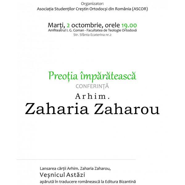 Confertina si lansare de carte - Arhim. Zaharia Zaharou
