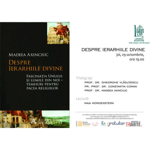 Despre ierarhiile divine, Trialog - 29 octombrie, ora 19:00