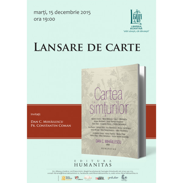 Cartea simturilor - Lansare - Marti, 15 decembrie, ora 19:00