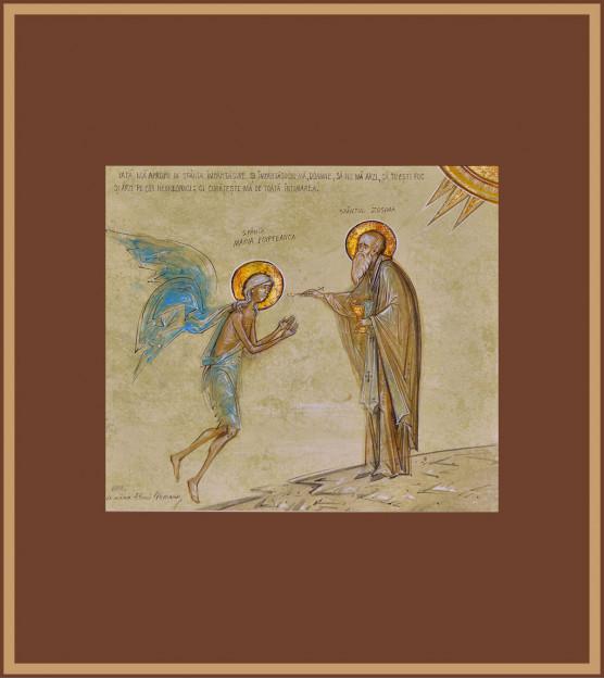 Icoana Impartasirea Sf. Maria Egipteanca. Elena Murariu