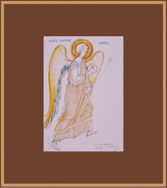 Icoana Sfantul Arh. Gavriil. Elena Murariu (format mic)