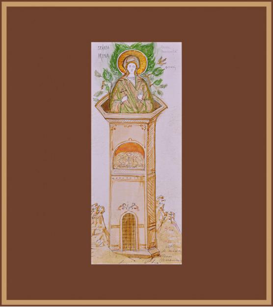 Icoana Sf. Mare Mucenita Irina, Elena Murariu