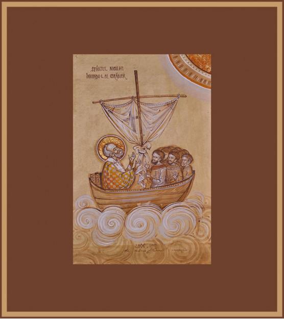 Icoana Sfantul Nicolae inviindu-l pe corabier, Elena Murariu