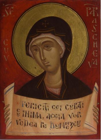 Icoana pictata pe lemn, Sf. Cuvioasa Parascheva, A5