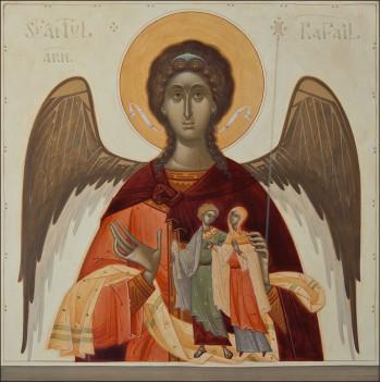 Icoana pictata pe lemn, Sf. Arhanghel Rafail