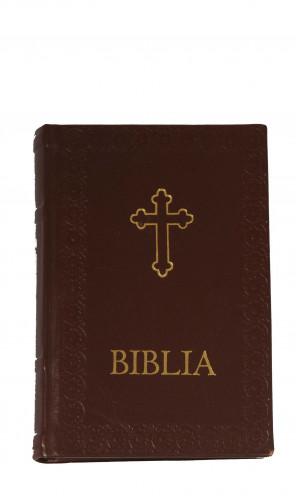 Biblia legata in piele naturala - timbru sec/folio