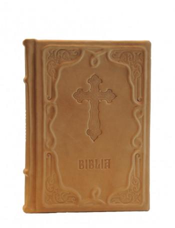 Biblia legata in piele naturala