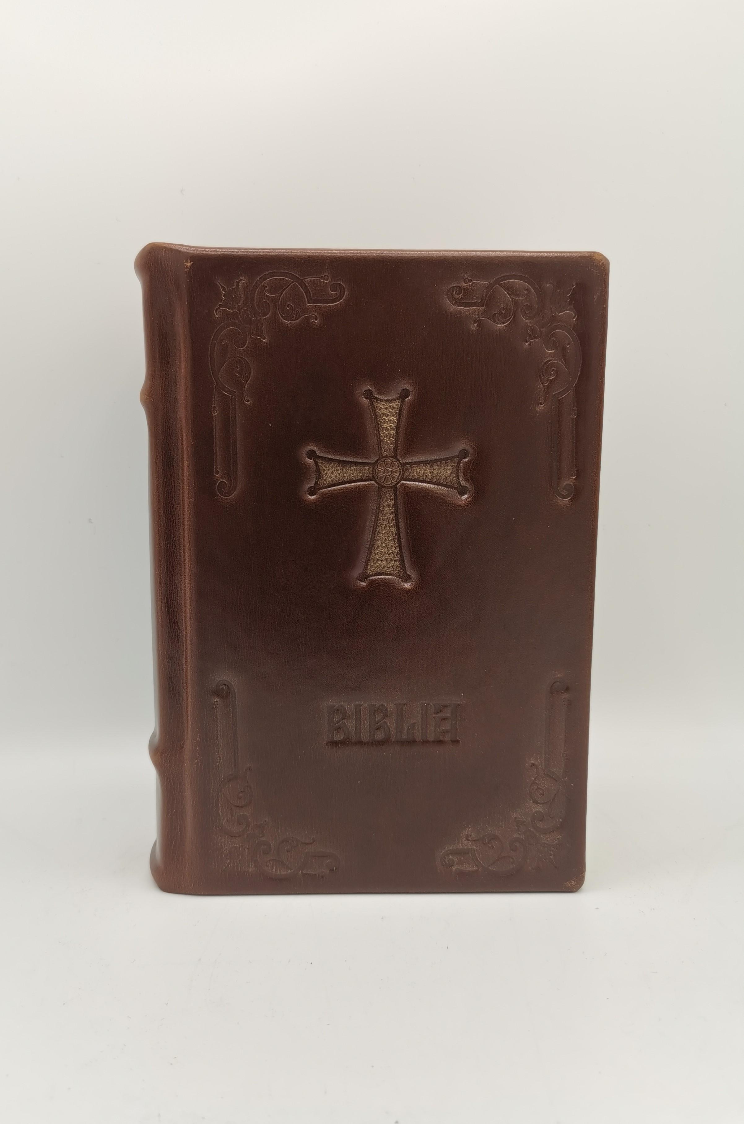Biblia legata in piele naturala, format mic, editie de lux