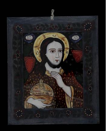 Icoana pictata pe sticla Iisus