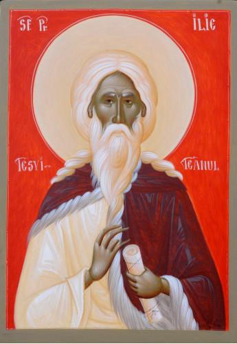 Icoana pictata pe lemn Sf. Prooroc Ilie Tesviteanul, A4
