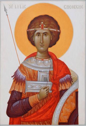 Icoana pictata pe lemn Sf. Mare Mucenic Gheorghe, A4