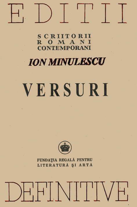 Ion MINULESCU | VERSURI