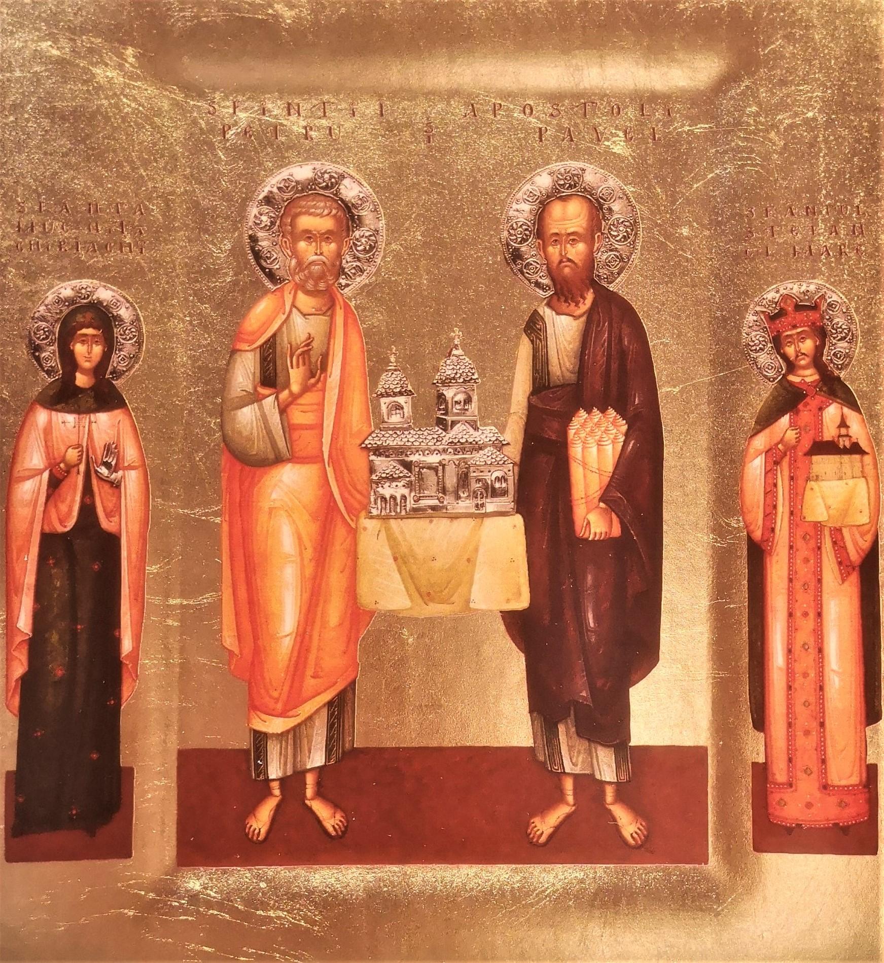 Icoana Relicvar a Sfintilor Apostoli Petru si Pavel si racla Sfintei Chiriachi - Episcopia Husilor