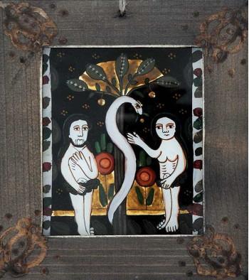 Icoana pictata pe sticla Pomul vietii