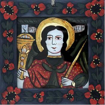 Icoana pictata pe sticla Sf. Arh. Mihail