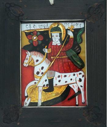 Icoana pictata pe sticla Sf. Gheorghe