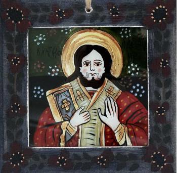 Icoana pictata pe sticla Sf. Nicolae