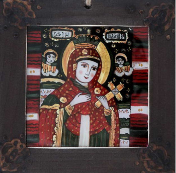 Icoana pictata pe sticla Sf. Parascheva