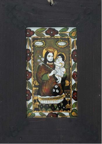 Icoana pictata pe sticla Sfantul Simeon