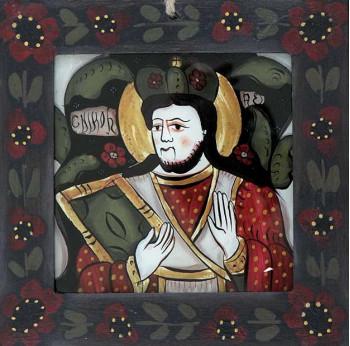Icoana pictata pe sticla Sfantul Nicolae
