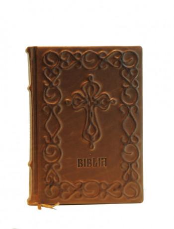 Biblia legata in piele, model sfoara