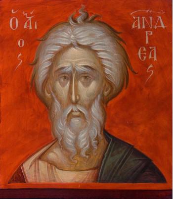 Icoana pictata pe lemn, Sf. Apostol Andrei, mica