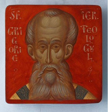 Icoana pictata pe lemn, Sf. Ier. Grigorie Teologul, mica