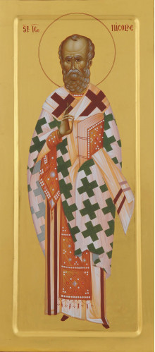 Icoana pictata pe lemn, Sf. Ierarh Nicolae, foita de aur