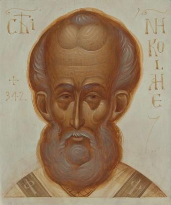 Icoana pictata pe lemn, Sfantul Ierarh Nicolae, mica