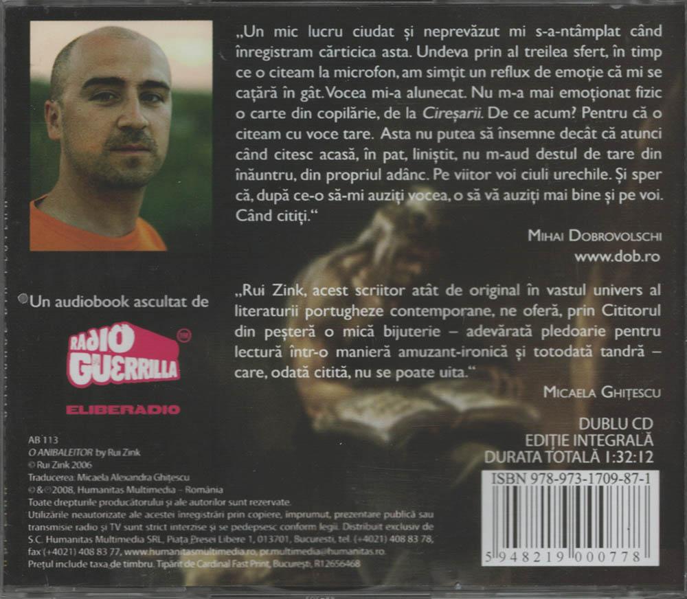 Cititorul din pestera, Audiobook