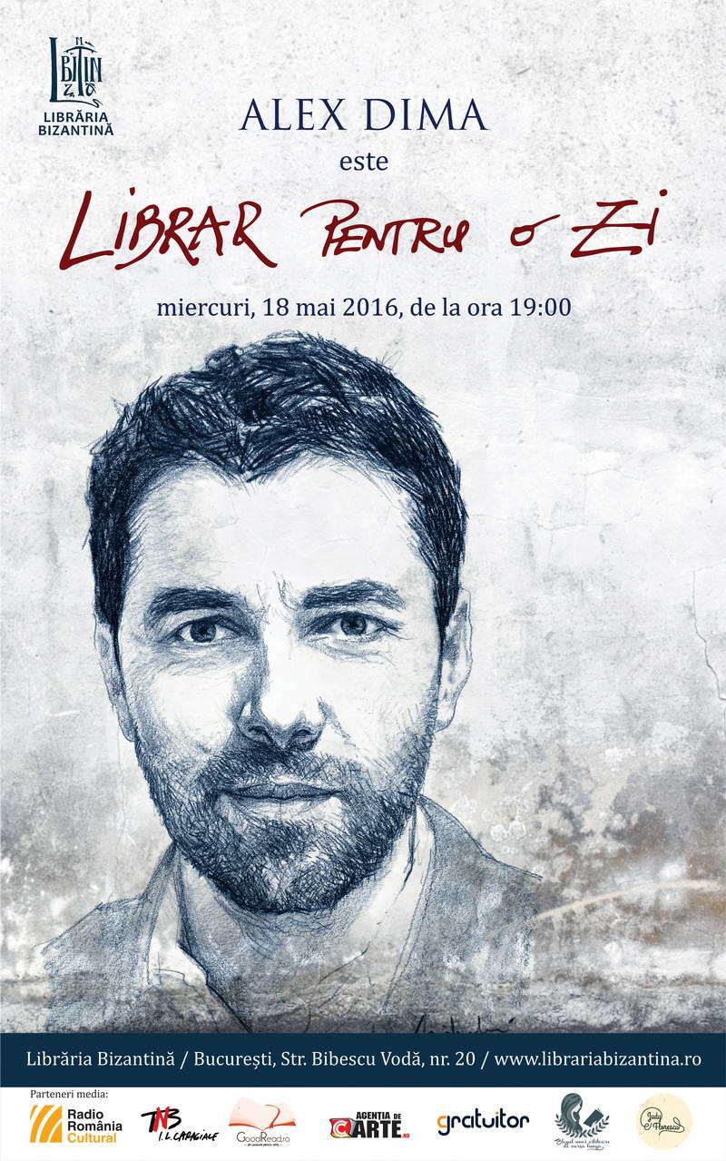 Miercuri, 18 mai, de la ora 19:00 - Librar pentru o zi este Alex Dima