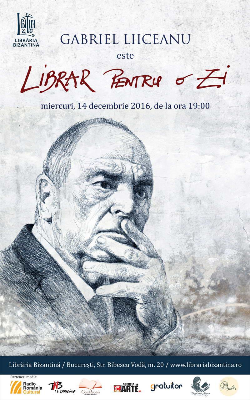 Librar pentru o zi este Gabriel Liiceanu - Editie speciala - Miercuri, 14 decembrie, ora 19:0