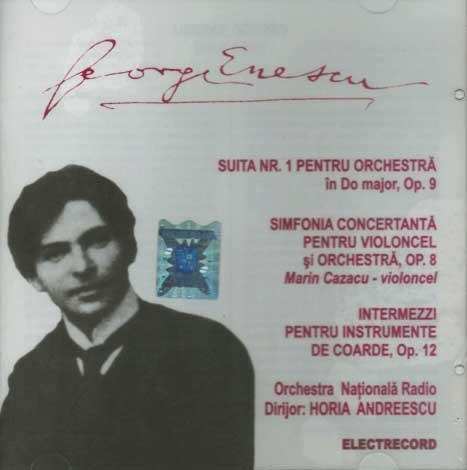 CD George Enescu Suita nr. 1 pentru Orchestra in Do major, Op. 9